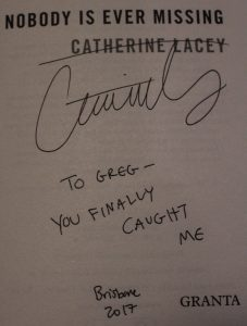 Catherine Lacey The Answers Brisbane Writers Festival The Answers Signed